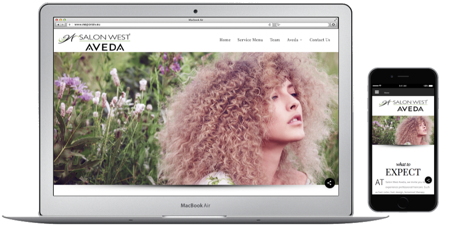 Website Salon West Aveda